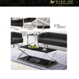 ガラス家具の長方形のガラス上のコーヒーテーブルの贅沢なコーヒーテーブル(YF-170083T)