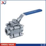 robinet à tournant sphérique de l'acier inoxydable 3PC avec la garniture directe de support
