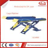 Véhicule Lift&#160 de type de levage hydraulique de cylindre de double de marque de Guangli et de modèle de ciseaux ;