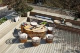 Tabela de chá de tecelagem da corda ao ar livre nova do projeto