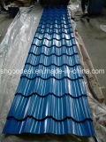 Настилать крышу PPGI покрынный цветом гофрированный покрывает катушки