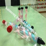 Pacote por atacado plástico desobstruído das câmaras de ar do presente de China com tampão e o punho personalizados