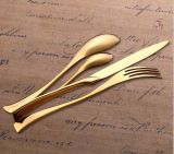 FDAの証明のステンレス鋼の金の食事用器具類