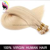 Оптовые человеческие волосы Remy бразильские белокурые я наклоняю выдвижение волос