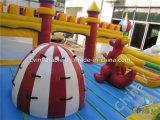 Riesiger aufblasbarer Unterhaltungs-Spielplatz, aufblasbarer Spielplatz mit Plättchen