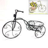 Metallausgangs-und -garten-Dekoration-Dreiradflowerpot-Standplatz-Fertigkeit