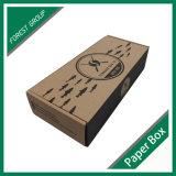 Kraftpapier runzelte Verschiffen-Kasten mit schwarzem Firmenzeichen-Drucken