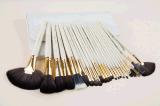 24 PCS-Weihnachtsabends-Verfassungs-Pinsel mit weißem PU-Beutel