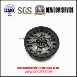 Overmoldのゴム製タイヤが付いている高品質の芝生の発動機のプラスチック車輪