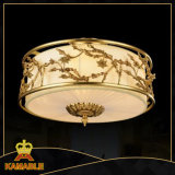 Lampe ronde en laiton de plafond d'antiquité de type chinois (KATX-1800-5A)