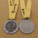 OEM de Medaille van de Douane van het Ras van de Marathon van de Toekenning van het Metaal van het Ontwerp met het Lint van de Sublimatie