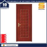 Porte intérieure en bois solide de placage composé de PVC de forces de défense principale