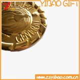 Custom Logo Plating Iron Chain Medal of Medallion Gift (YB-HD-44)