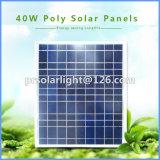 40W de alta eficiencia Poli Renewable Energy Saving transparente de la célula solar