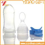 Bottiglia di alimentazione del silicone del commestibile con il cucchiaio per il bambino d'alimentazione (XY-SFB-001)