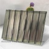 glace de verre feuilleté de miroir de 10mm+Silk+5mm/métier/verres de sûreté en verre Tempered/pour la décoration