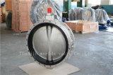 Vleugelklep van de Schacht van het roestvrij staal de Naakte Van een flens voorzien Dubbel (CBF01-TF01)