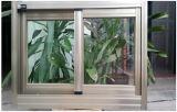 Guichet de glissement d'aluminium de double vitrage avec le gril