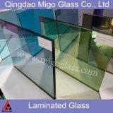 Transparente / Cinzento / Bronze / Branco Construção decorativa de segurança Laminado de vidro