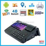 Terminal móvil de la posición del pago de la impresión 3G de la escritura de la etiqueta del restaurante (zkc PC701)
