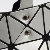 Silberne geometrische rhombische PU Dame Handbag (A040)