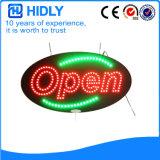 Oval de Hidly o sinal aberto do diodo emissor de luz de América