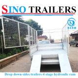 Drop Down Side Tandem Axle Hydraulic Tipping Trailer