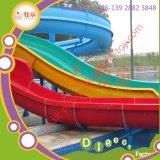 虹水スライドの私用プールのための開いた水のスライド