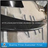 Совершенно верхние части стенда гранитов Shanxi черные для украшения сада