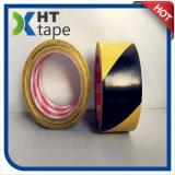 PVC黒くおよび黄色の床テープ