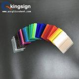 Plaque acrylique Couleur-Transparente teintée