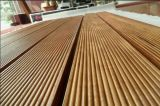 Segredo antiderrapante Decking ao ar livre pregado do Teak da piscina