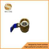 Válvula de esfera Dn32 operada do oxigênio alavanca de bronze