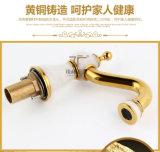 Nuevo mezclador del lavabo del Tres-Orificio del jade de la maneta Zf-M02 del doble del diseño