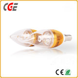 Bulbo claro da vela do diodo emissor de luz do diodo emissor de luz 110V 220V E14 4W