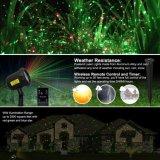 Proiettore di luce di natale del laser, indicatore luminoso della stella dell'acquazzone del laser