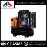 O compressor de ar com tanque montou 100 Cfm o menor