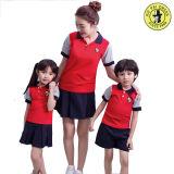 Uniforme do infantário, jogos uniformes do polo dos miúdos, Shorts da farda da escola