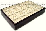 Bandeja de madera al por mayor de Retangle de la bandeja de madera de la exhibición de la joyería