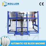 Feito em China a máquina do bloco de gelo de 1 tonelada diretamente evaporando
