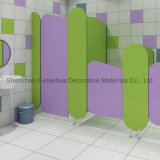 Colorful and Lovely Style Kids Toilet Cubicles Partition with Fittings/HPL Board