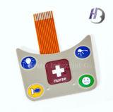 Interruptor de membrana impermeable de los botones