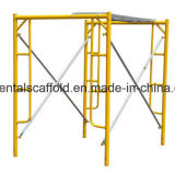Échafaudage de bâti en acier pour la construction de bâtiments