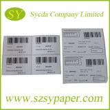 PVC préimprimant l'étiquette