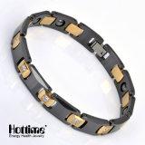 Bracelet en hématite magnétique de charme aux chaudes avec de la céramique (10063)