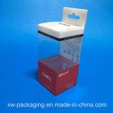 Caixa plástica de dobra para embalagem eletrônica