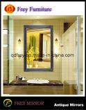 Espelho de parede embutido de madeira bonita artesanal