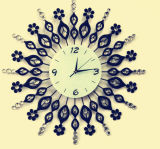 Hot Sale Crystal Decoration Horloge murale en fer forgé
