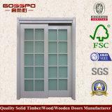 Vidro branco europeu da pintura que desliza a porta de madeira (GSP3-030)