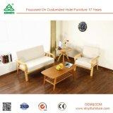 容易なアセンブリ贅沢なファブリックソファーセット、洗濯できる現代ソファー、固体木のソファーの舞台装置